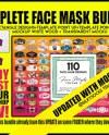 Face Mask Designs Huge Bundle 2 Facemask Sublimation Design Etsy
