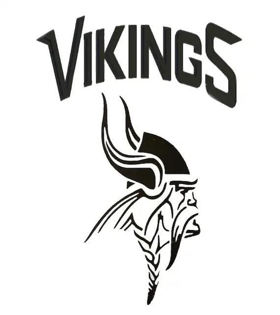 Various Szs Minnesota Vikings Logo Stencil Mylar Reusuable