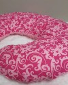 Standard Nursing Pillow Cover Baby Girl Hot Pink Scroll Damask Etsy