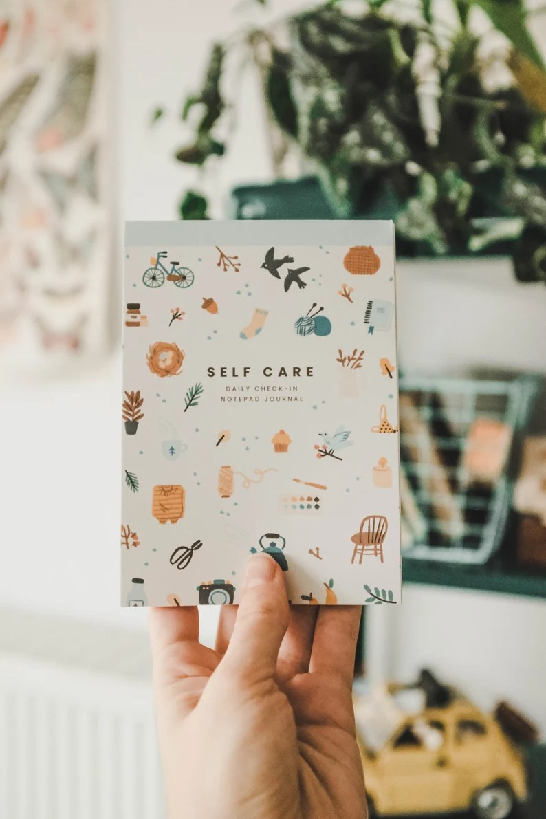 Self Care Daily Notepad Journaling Kit  Health Journal For image 4