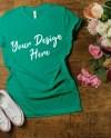 Kelly Bella And Canvas 3001 Mockup Shirt Mock Up Jpeg Irish Etsy