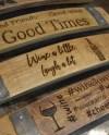 Wine Whiskey Wine Barrel Stave Etsy