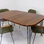 Rosewood Danish Jensen Frokjaeras Dining Table Mid Century Hairpin Legs