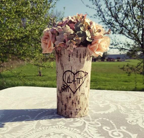 Rustic Wedding Rustic Wedding Centerpiece Flower Vase Bridal Etsy