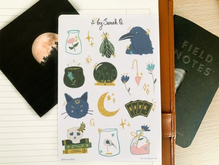 Witchy Stickers Bujo Stickers Planner Stickers Aesthetic image 0