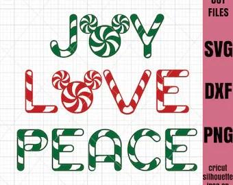 Download Joy love peace svg | Etsy