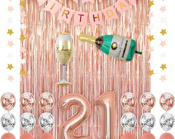 21st birthday decorations for