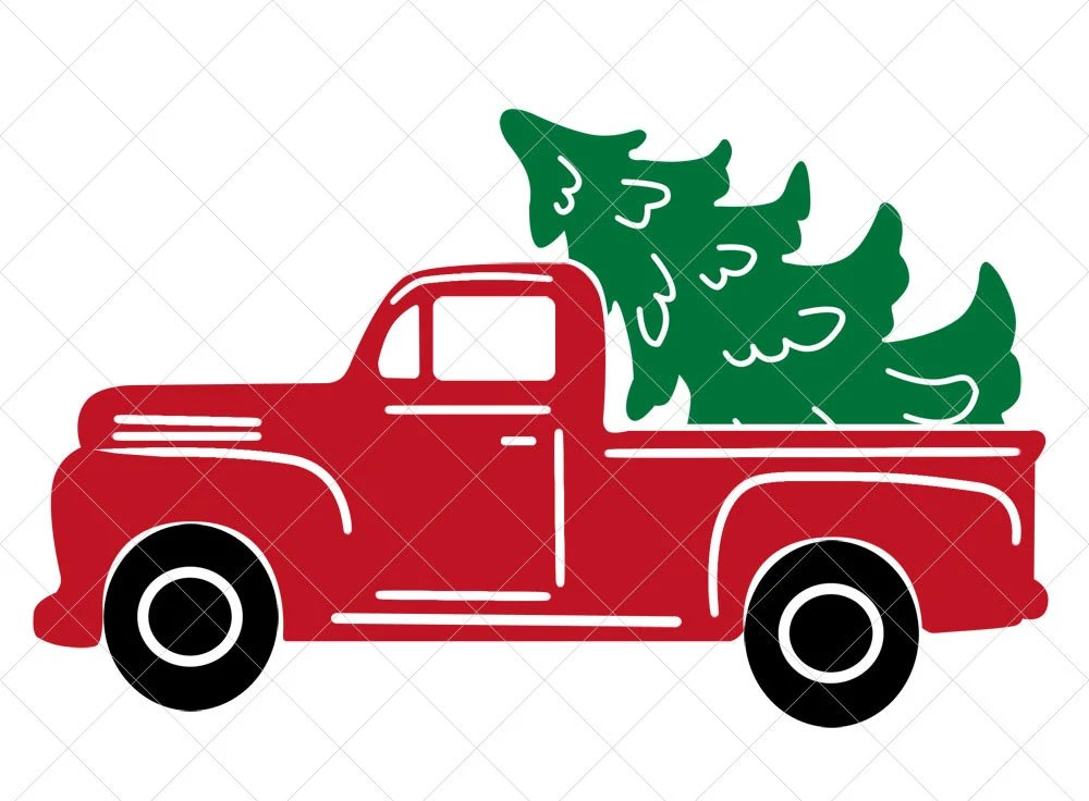 1244 Christmas Truck Svg