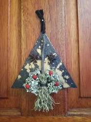 yule pagan wiccan decoration witch mini broom decor