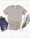 Bella Canvas 3001 Stone Heather Unisex Jersey T Shirt Mockup Etsy