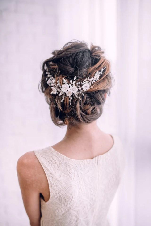 bridal hair accessories-bridal hair vine-wedding hair accessories- bridal headpiece-flower hair vine-wedding hair vine