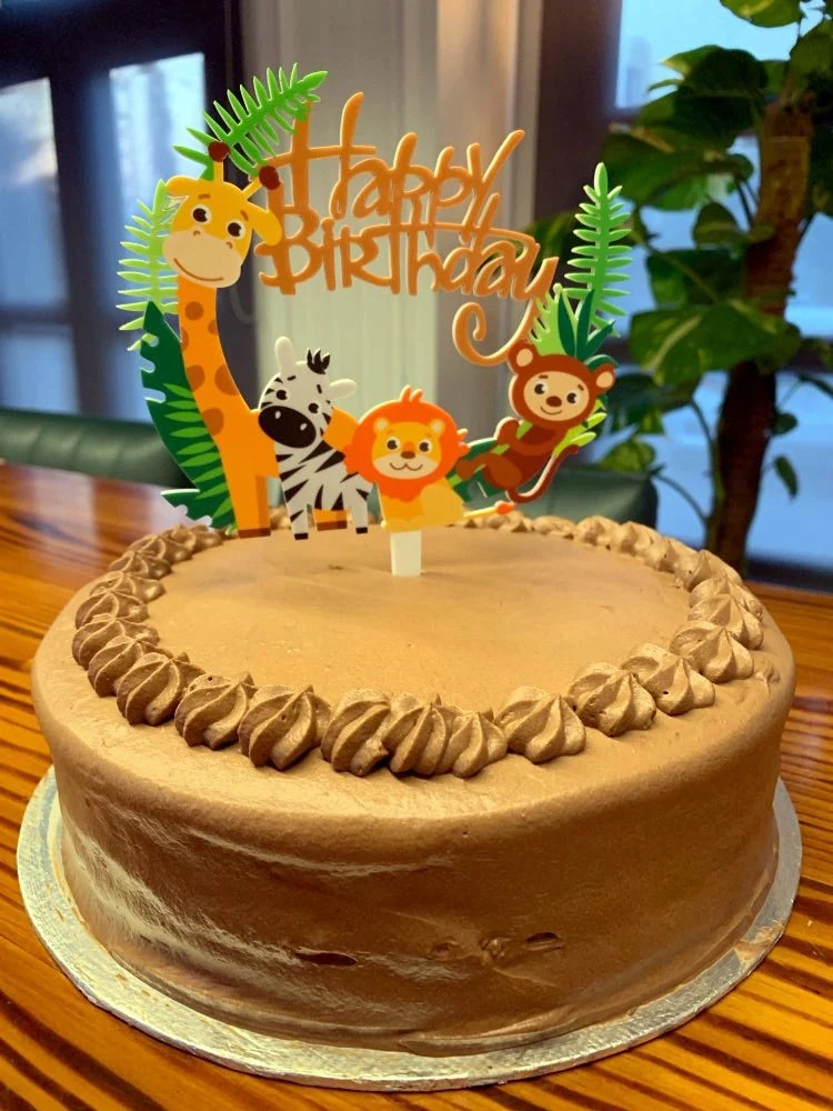 Personalised Acrylic Jungle Safari Animals Childrens Party Birthday
