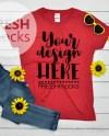 Gildan G500l Ladies Tshirt T Shirt Tee Mockup Heather Red Etsy