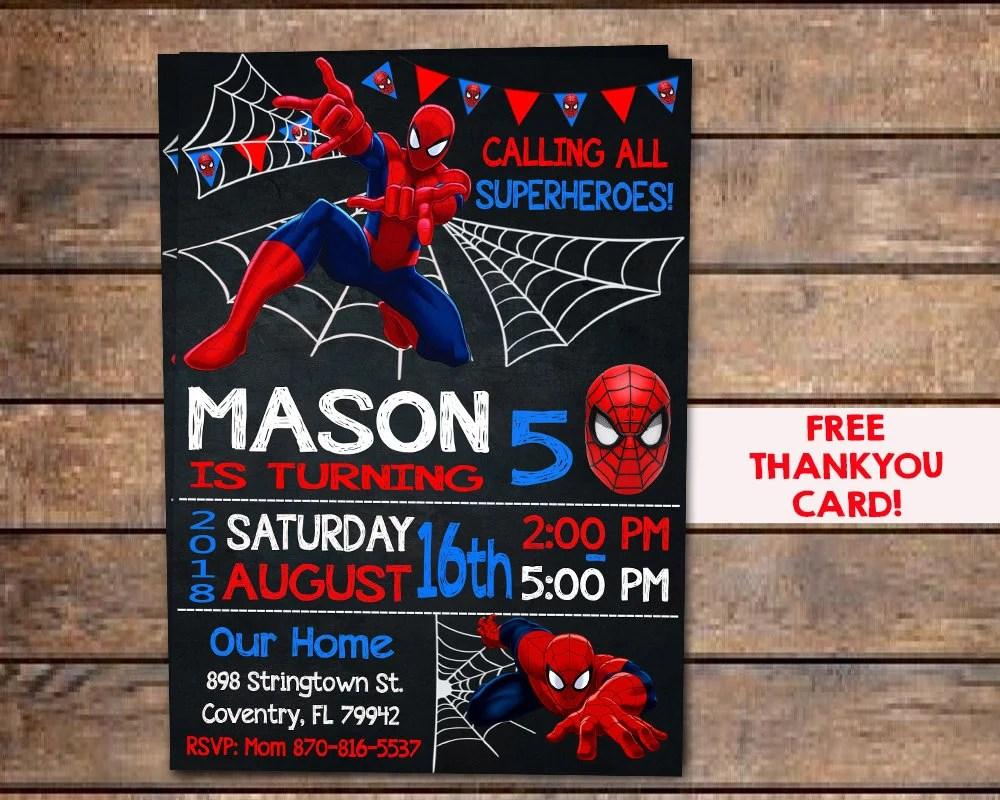 spiderman birthday card printable