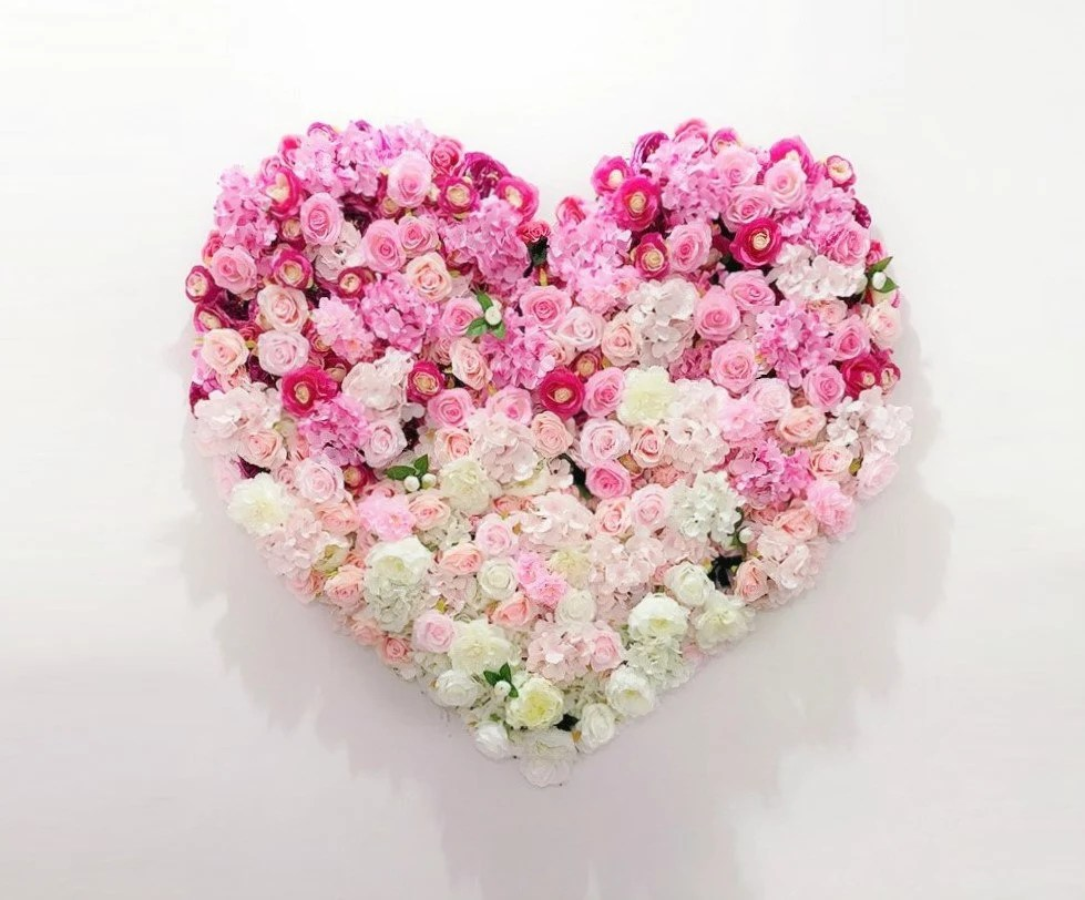 pink white ombre heart
