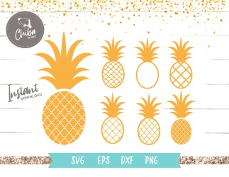 Pineapple svg Pineapple silhouette svg Pineapple Outline Etsy