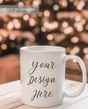Winter Mug Mockup Christmas Mug Mockup Mug Stock Etsy