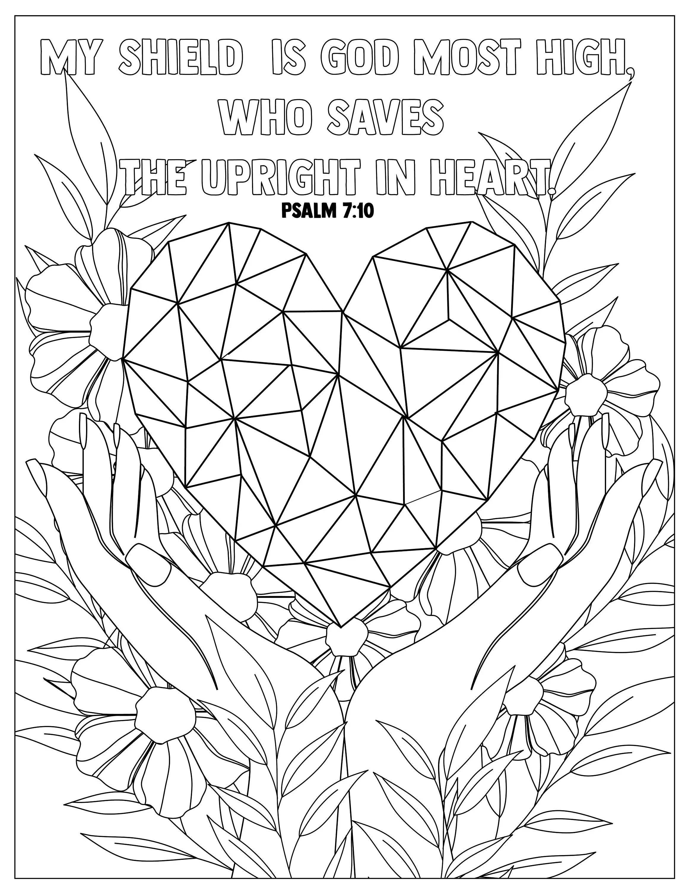 Psalm 7:10 Coloring Pages for Adults 1 Printable Coloring