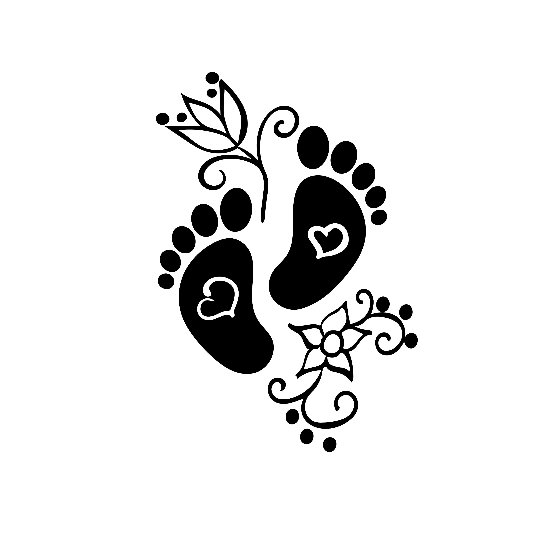 Baby Footprint Svg Shower Svg Newborn Baby Clipart Baby