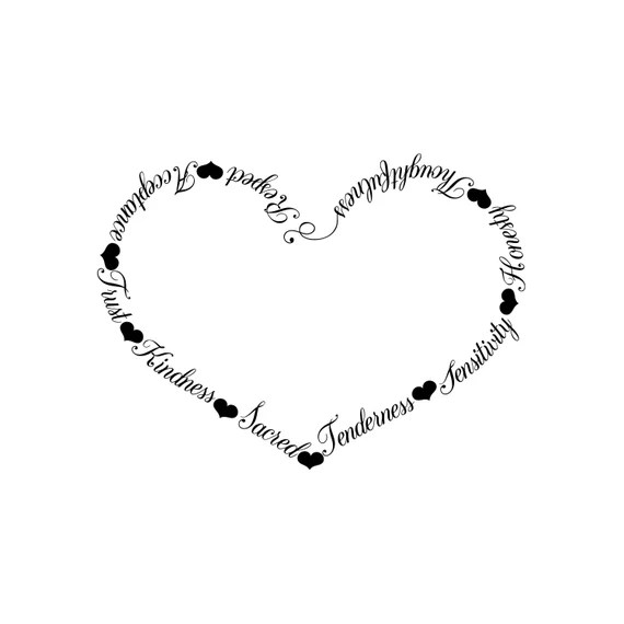 Download Qualities of Love black and white svg heart vector heart ...