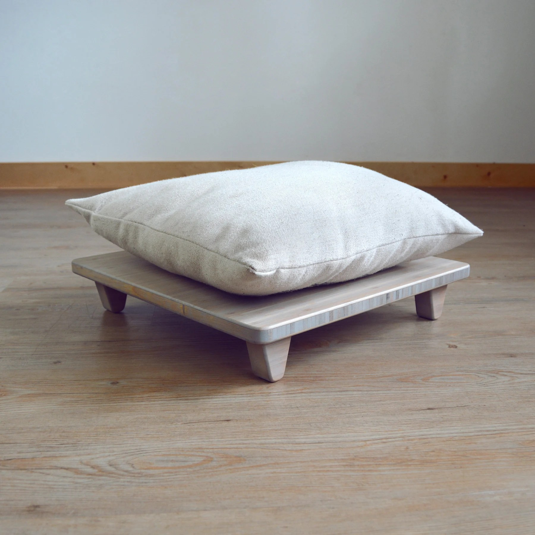 low coffee table set bamboo pillows