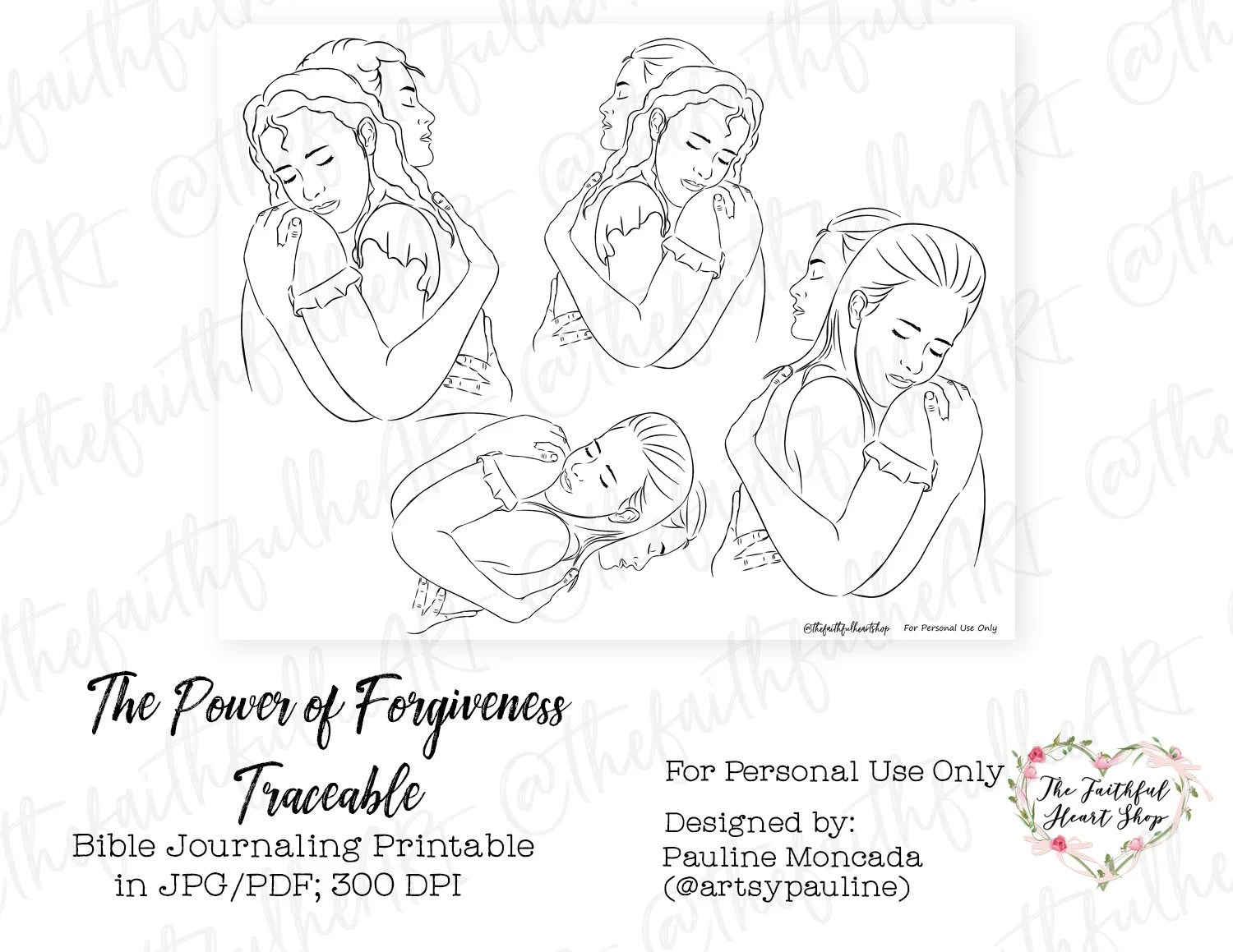 The Power of Forgiveness Traceable. Bible Journaling/Faith