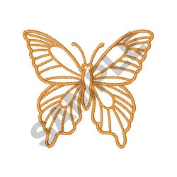 Butterfly Outline Embroidery Design Machine Embroidery Etsy