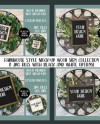 Mock Up Wood Sign Bundle 8 Jpg Files Farmhouse Styled Etsy