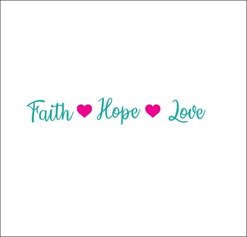 Download Faith hope love heart file svg ai dxf eps png digital | Etsy