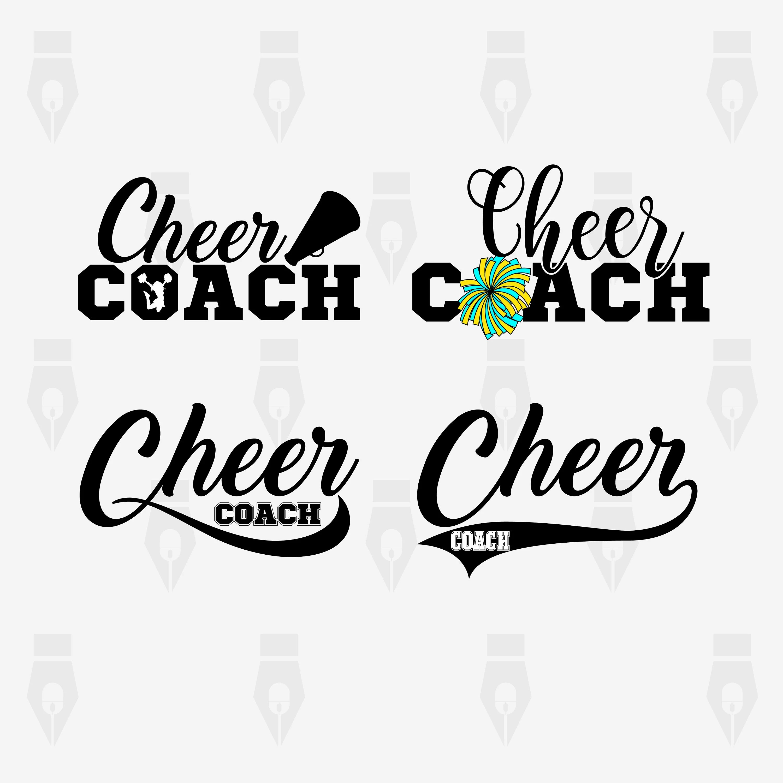 Cheer Coach Svg Cheer Coach Digital Clipart Files For