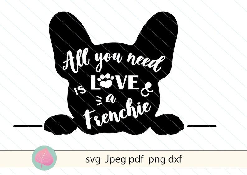 Download Frenchie love svg dog svgFrench bulldog svg Dog clipart | Etsy