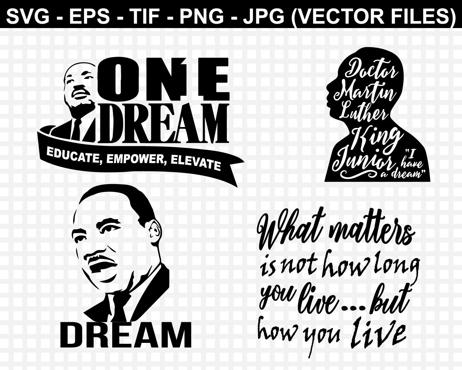 Martin Luther King Svg T Shirt Design Cut Files Svg Files