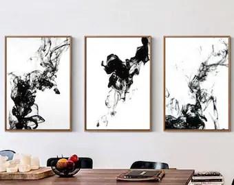 black white canvas etsy