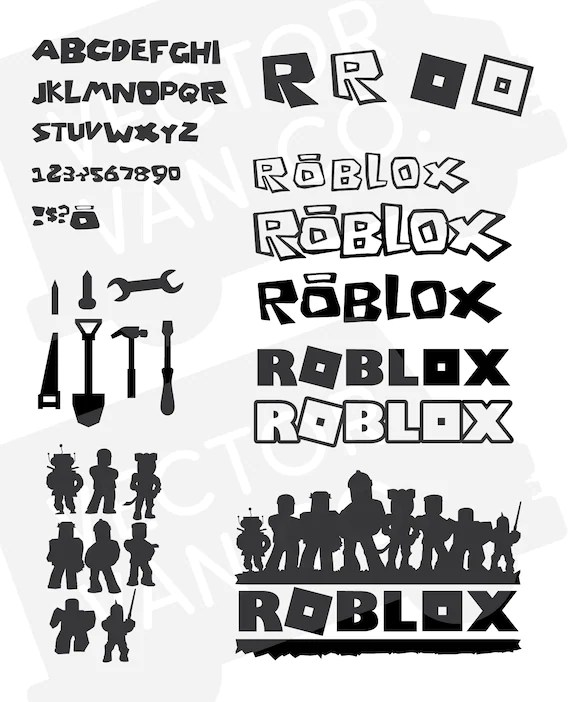 Roblox svg bundle pack Roblox cut file Roblox svg alphabet
