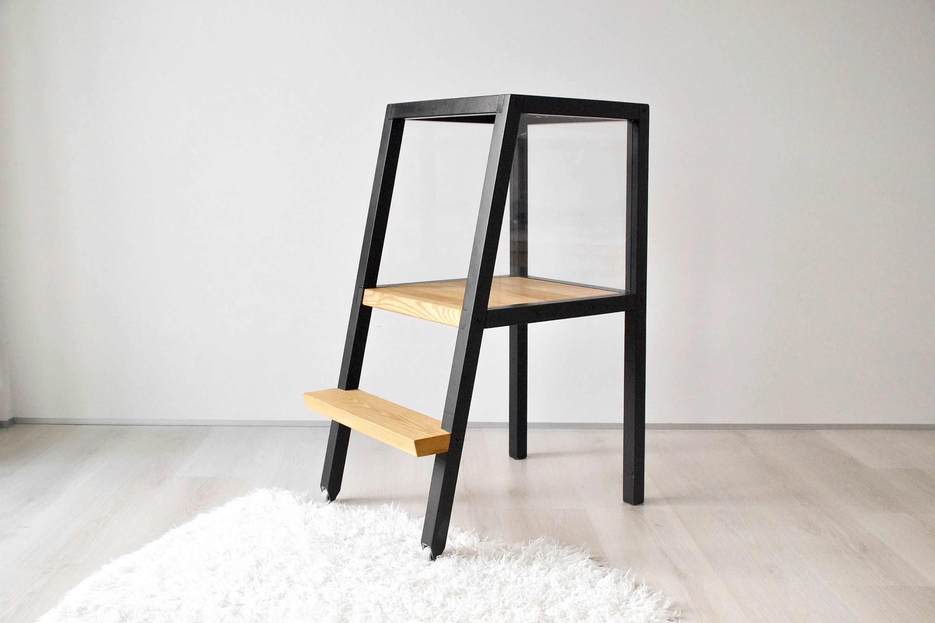 kitchen step nook lighting ideas helper etsy wooden tower toddler stool montessori learning safety