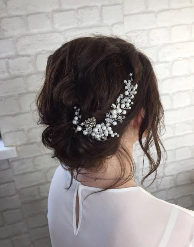 beauty hair accessories, wedding hair vine, wedding hair accessory, silver hair piece bridesmaid, hair jewelry for bride, bride hair piese