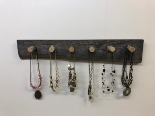 used cork  jewelry rack