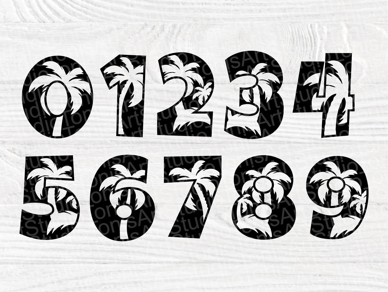 Palm Trees SVG Fonts, Beach Monogram, Alphabet Svg