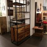 Bookcase Design Vintage Industrial Iron Wood Loft