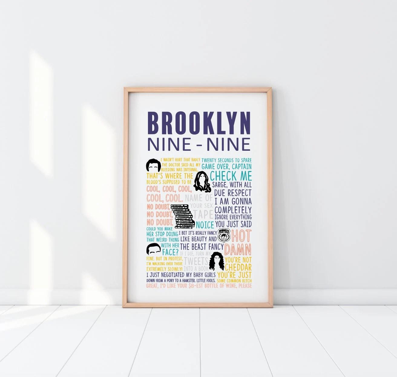 brooklyn 99 poster etsy