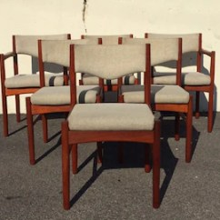 Vintage Dining Room Chairs Recliner Chair Protectors Australia Etsy Danish Refinished Teak Set Of 6