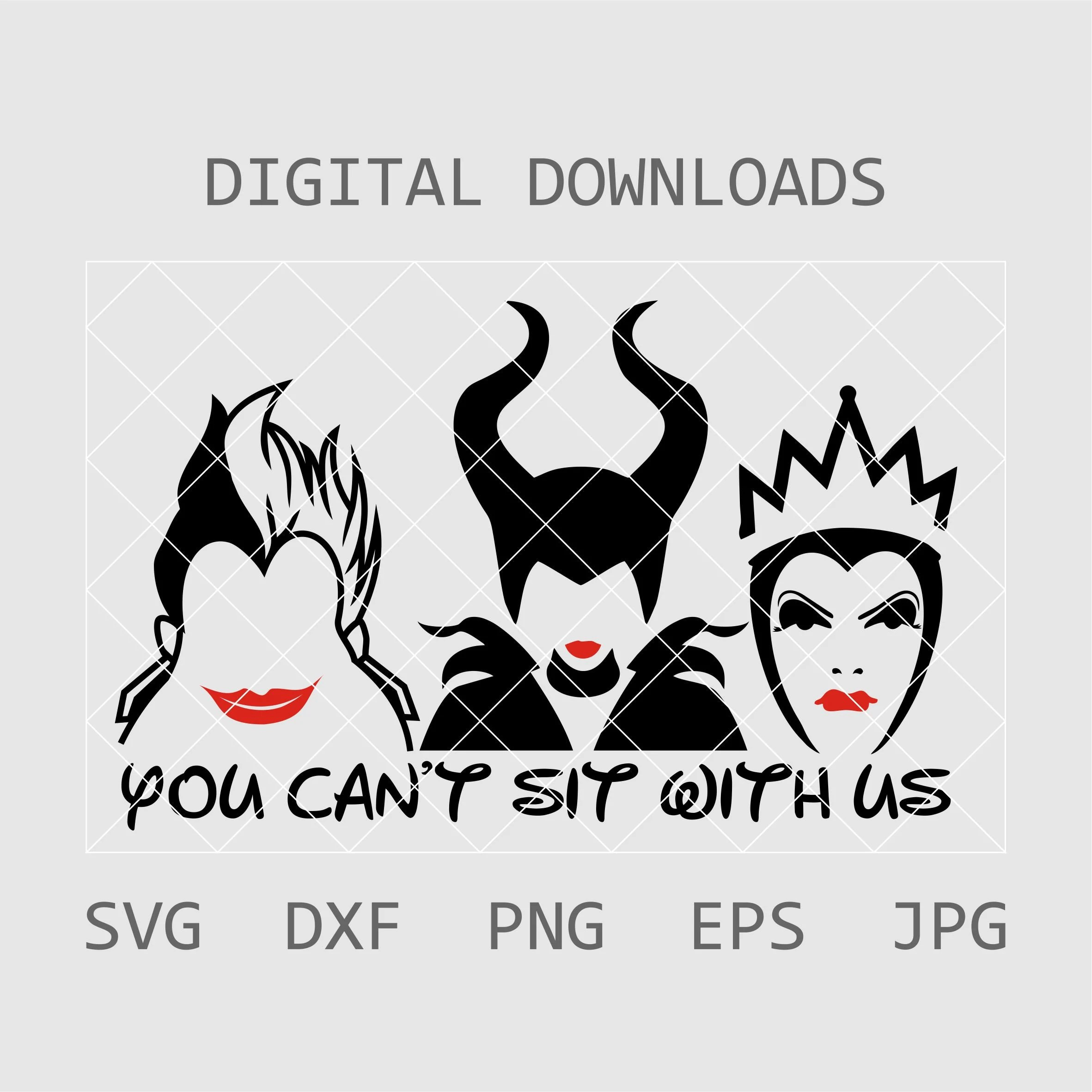 You cant sit with us Bad Girls Svg Halloween SVG Villains