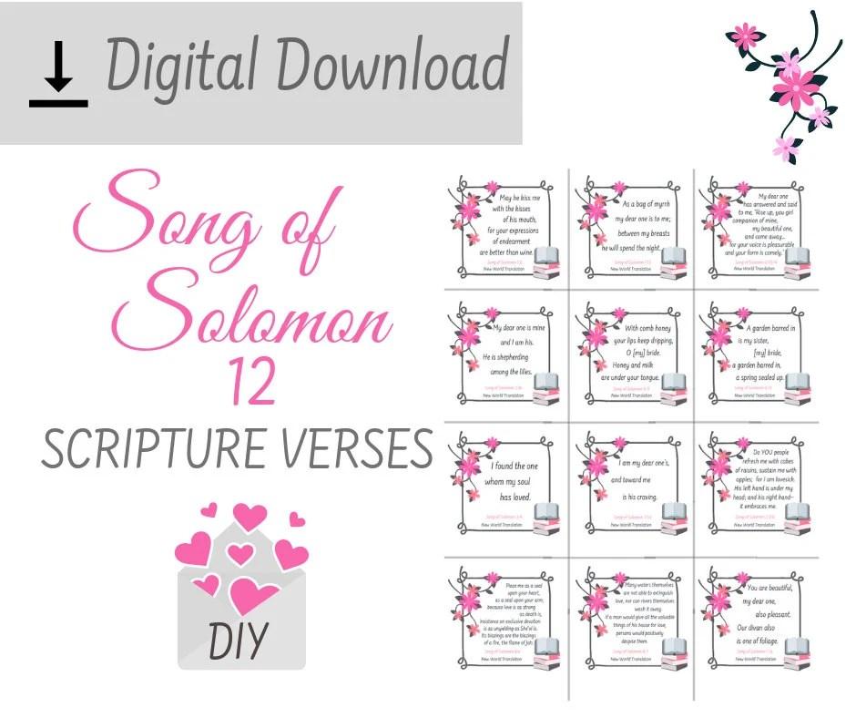 printable song of solomon