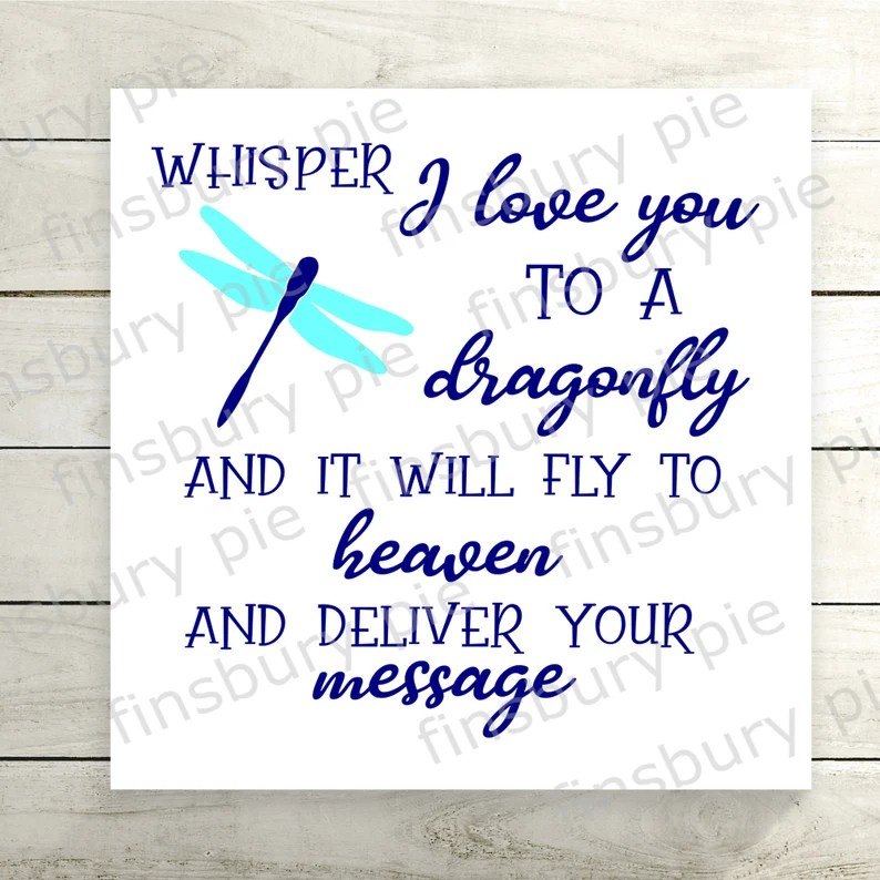 Download Whisper I love you to a Dragonfly SVG or PNG cutting file ...