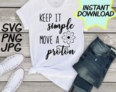 Move a Proton SVG, teacher PNG, JPEG, Teacher puns, Teachers shirts, Gifts for teachers, cricut design space