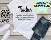 Teacher definition SVG, cut file, PNG, jpeg, Teacher shirt, Gifts for teachers, cricut, silhouette, Instant download, teacher quote, digital