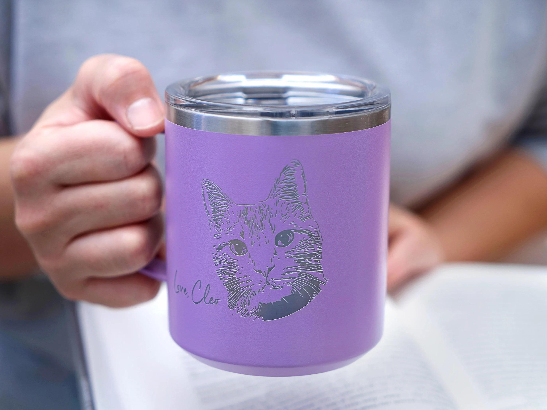 Laser Engraved Kid's Drawing Mug Custom 18 oz Coffee Mug image 2