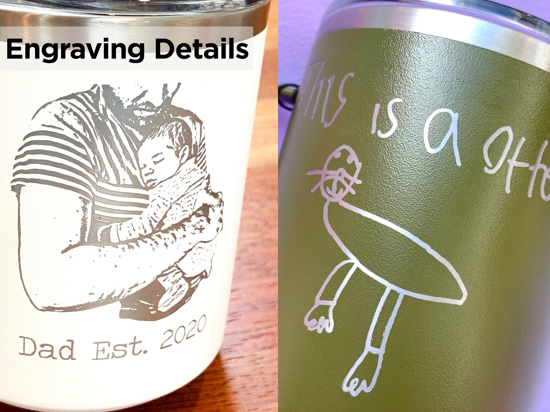 Laser Engraved Kid's Drawing Mug Custom 18 oz Coffee Mug image 4