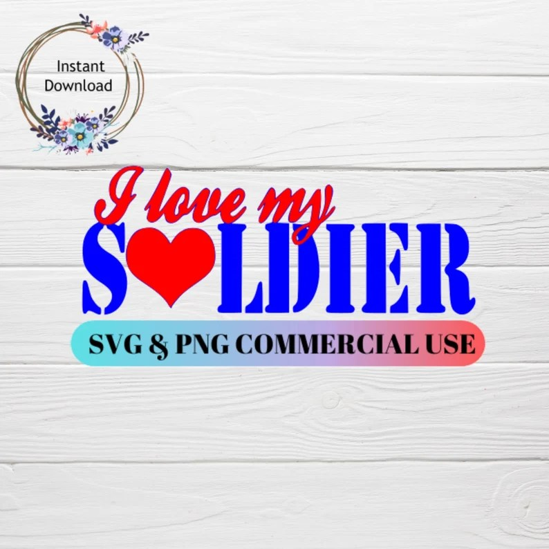 Download I love my Soldier SVG File military svg air force svg | Etsy