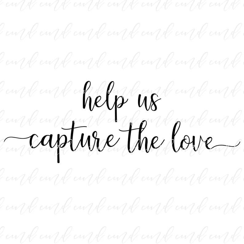 Download Help Us Capture The Love svg Wedding Hashtag svg Wedding ...